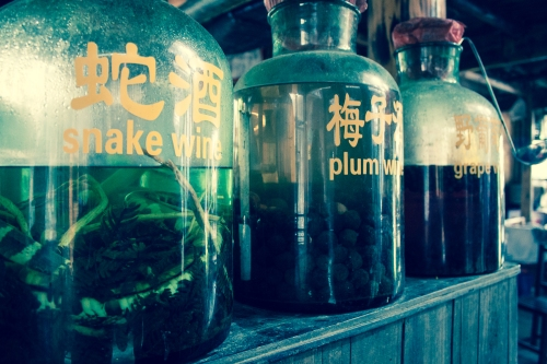 Snake wine from Guilin.