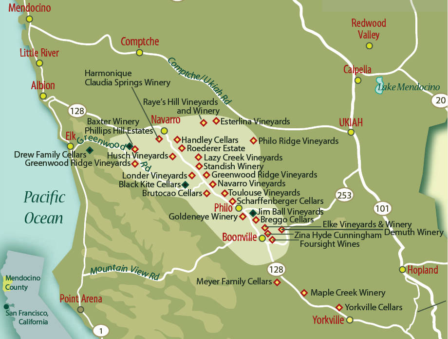 Mendocino County Part 2 How to get there Wineries to visit