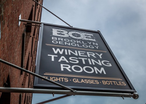 Wine tasting in a warehouse - Only in Brooklyn, USA