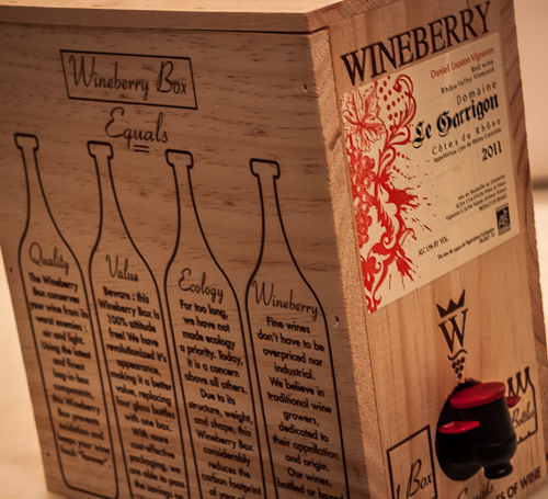 Literally, a box of wine