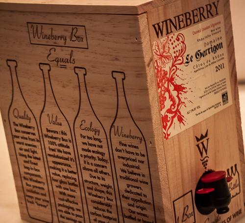 Literally, a box of wine