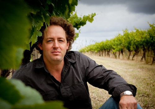 Hunter Smith in Vineyard