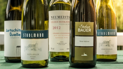 Selection of Austrian Whites. All Images by Lauren Mowery.