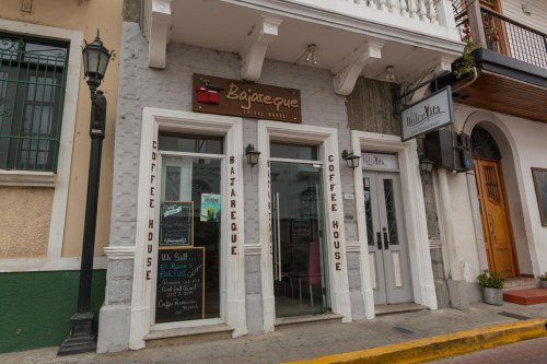 Exterior of Bajareque in Casco Viejo