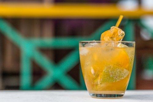 Rum cocktail in Bocas