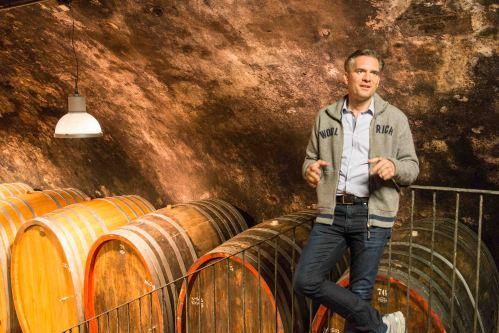 Wittman in his cellar in Rheinhessen.