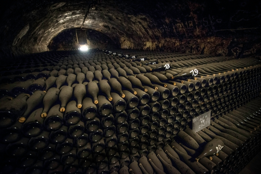 An intern found a hidden stock of Bollinger reserve wine in a forgotten room in the cellar. (Photo provided by Bollinger Champagne)